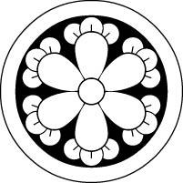 貼り紋が安い【丸に六つ丁字】の貼り付け家紋を激安通販【和物屋本舗】